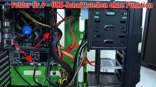 Neuer PC zeigt kein Bild - startet bootet nicht - erkennt USB SSD HDD nicht - selbst gebaut - USB-Stecker prüfen