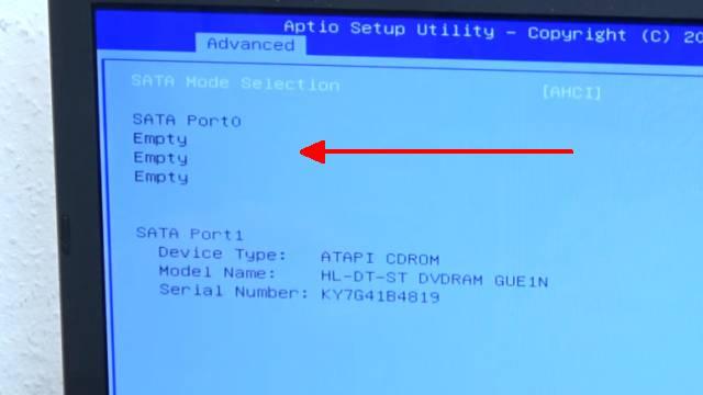 Notebook Festplatte macht laute kratzende Geräusche + Klickgeräusche - HDD defekt - HDD wird im Bios nicht angezeigt