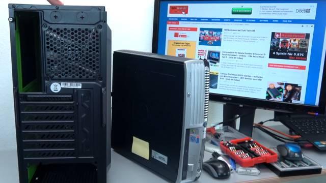 PC Gehäuse Test - Heute gegen Früher - billig und klapprig gegen teuer und solide - ATX-Mini / Midi-Tower-Gehäuse Rückseite