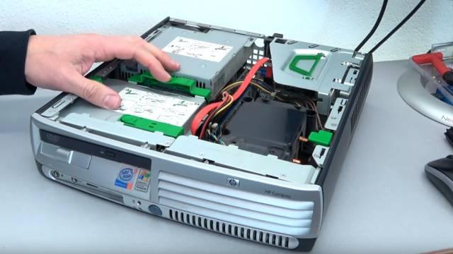 PC Gehäuse Test - Heute gegen Früher - billig und klapprig gegen teuer und solide - Hewlett-Packard Desktop-PC-Gehäuse