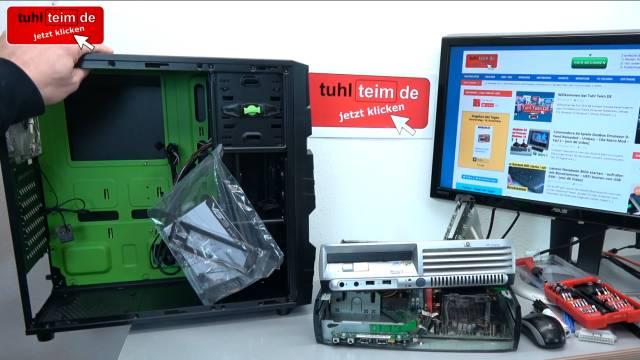 PC Gehäuse Test - Heute gegen Früher - billig und klapprig gegen teuer und solide - Hewlett-Packard Desktop-PC-Gehäuse dediziert