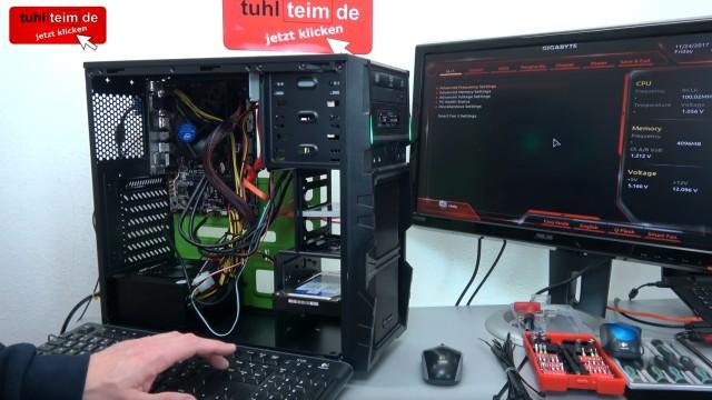 PC zusammenbauen - Schritt für Schritt - eigenen Rechner bauen - Anleitung - PC starten und UEFI Bios einstellen