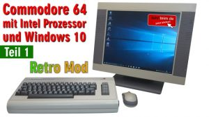Commodore 64 mit Intel Prozessor und Windows 10 - C64 Retro Mod