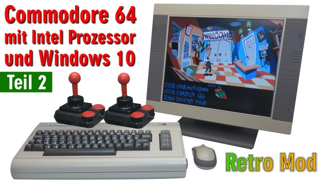 Commodore 64 Spiele DosBox Emulator D-Fend Reloaded - Umbau - C64 Retro Mod