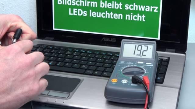 Laptop Reparatur kostenlos - nur Netzteilbuchse nachlöten - Notebook defekt ohne Funktion - Netzteil liefert 19V