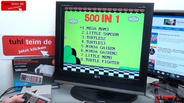 Retro Videospielkonsole Mini Machine Entertainment System - 500 Games - 500 eingebaute Spiele mit Menüsystem