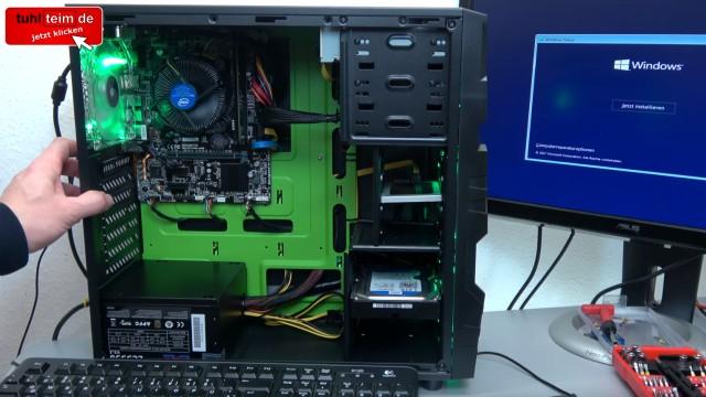 Neuer PC Windows 10 installieren von USB - UEFI-Bios einstellen - Windows schneller machen - neu gebauter PC mit SSD und Festplatte