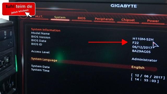 PC Bios Update Flash - UEFI Mainboard aktualisieren | brennen Windows 10 USB-Stick - BIOS-Version im UEFI-Bios finden