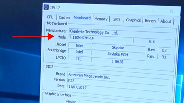 PC Bios Update Flash - UEFI Mainboard aktualisieren | brennen Windows 10 USB-Stick - Mainboard alternativ mit CPU-Z finden