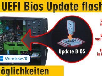 PC Bios Update Flash - UEFI Mainboard aktualisieren | brennen Windows 10 USB-Stick