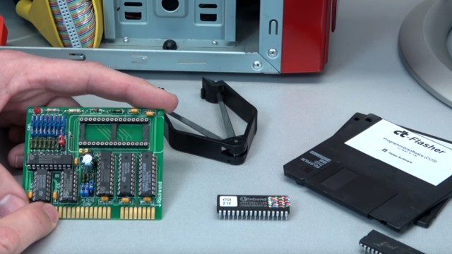 Virus löscht Bios-Chip im PC - 1999 - BIOS Update flashen - Wie alles angefangen hat - CT-Flasher - DIL/DIP-Sockel mit Diskette
