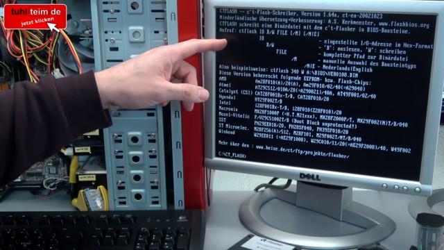 Virus löscht Bios-Chip im PC - 1999 - BIOS Update flashen - Wie alles angefangen hat - CT-Flasher - Brennsoftware startet im DOS-Modus