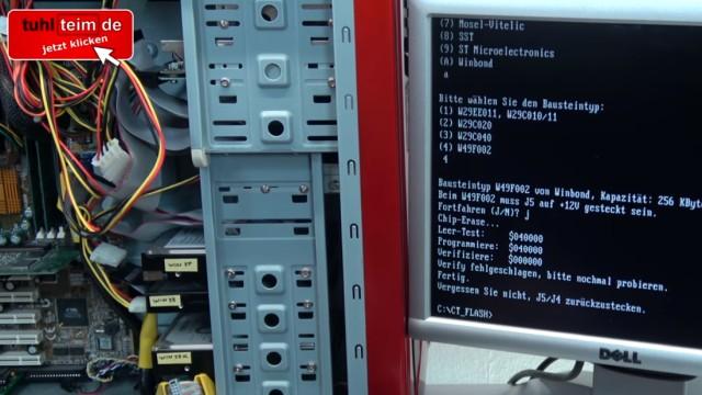 Virus löscht Bios-Chip im PC - 1999 - BIOS Update flashen - Wie alles angefangen hat - CT-Flasher - Bios-Chip brennen / programmieren / flashen