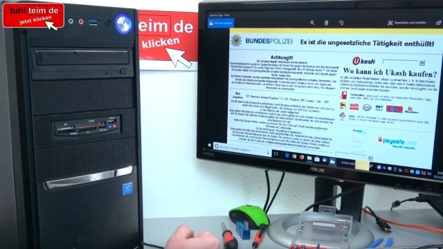 Windows 10 Computer ist gesperrt beim Surfen im Internet - 500 Euro bitte nicht zahlen - Tech Support Scam - Bundespolizei