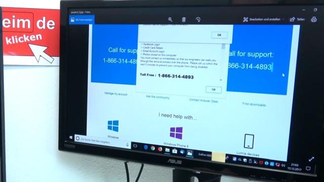 Windows 10 Computer ist gesperrt beim Surfen im Internet - 500 Euro bitte nicht zahlen - Tech Support Scam - Support gebührenfrei