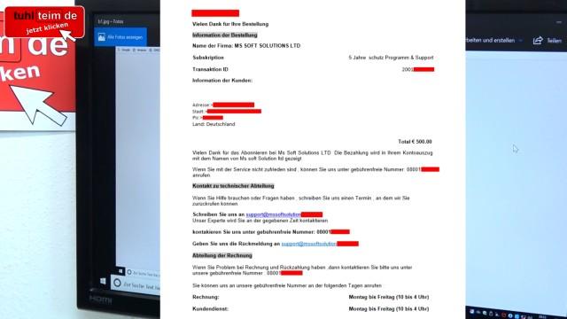 Windows 10 Computer ist gesperrt beim Surfen im Internet - 500 Euro bitte nicht zahlen - Tech Support Scam - Bestätigung des Betrugs