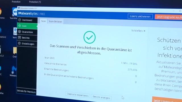 Windows 10 Computer ist gesperrt beim Surfen im Internet - 500 Euro bitte nicht zahlen - Tech Support Scam - Scannen nach Malware ohne Befund