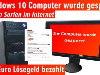 Windows 10 Computer ist gesperrt beim Surfen im Internet - 500 Euro bitte nicht zahlen - Tech Support Scam