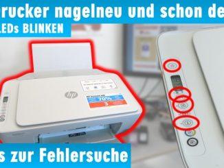 HP Drucker nagelneu und schon defekt - alle LEDs blinken - Tipps zur Fehlersuche
