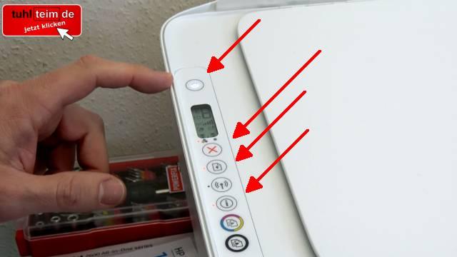 HP Drucker nagelneu und schon defekt - alle LEDs blinken - Tipps zur Fehlersuche - direkt nach dem Einstecken in die Steckdose