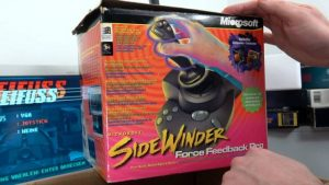 Microsoft Sidewinder Joysticks Force Feedback aus den 90ern mit Gameport - Test - Installation - Sidewinder Force Feedback Pro in Originalverpackung