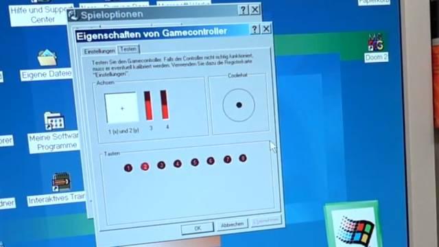 Microsoft Sidewinder Joysticks Force Feedback aus den 90ern mit Gameport - Test - Installation - Joystick im Treiber kalibrieren oder testen
