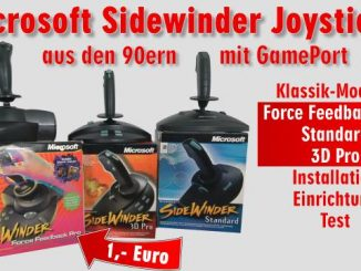 Microsoft Sidewinder Joysticks Force Feedback aus den 90ern mit Gameport - Test - Installation