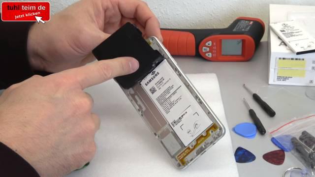 Samsung Galaxy A5 öffnen - Akku wechseln - Akku schnell leer und heiß - NFC Antenne hochklappen