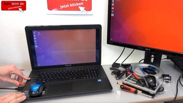 Ubuntu Linux installieren - Download - USB-Stick erstellen - auf UEFI Notebook installieren - Linux ist fertig installiert