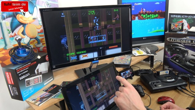 Videospielkonsole - Original vs. Windows 10 Emulation - Sega Mega Drive - Genesis - RoboCop 3 auf Mame Emulator
