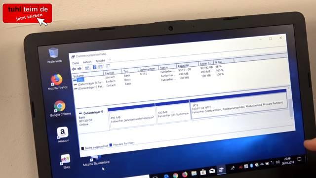 Wie man seine Festplatte NICHT partitionieren sollte bei Windows 10 - HDD oder SSD - GUID Partitionstabelle mit EFI-Partition