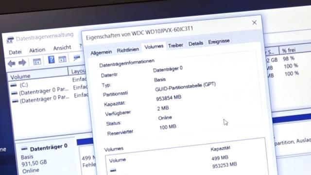 Wie man seine Festplatte NICHT partitionieren sollte bei Windows 10 - HDD oder SSD - GUID Partitionstabelle - UEFI im Bios aktiviert