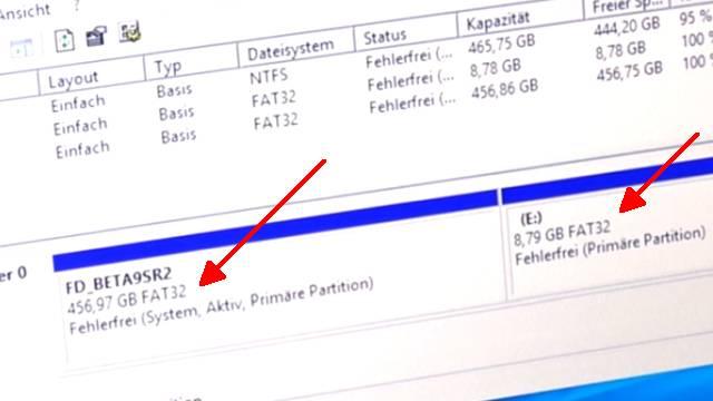 Wie man seine Festplatte NICHT partitionieren sollte bei Windows 10 - HDD oder SSD - FAT32-Partitionen statt NTFS