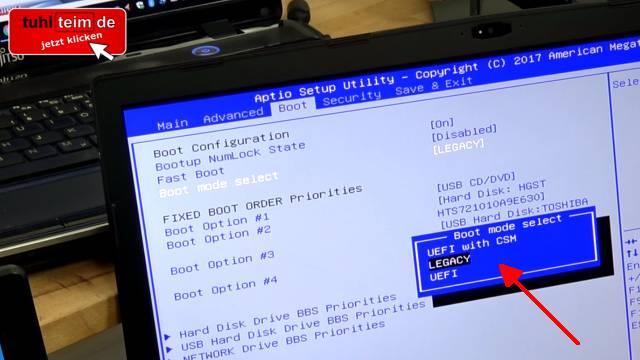 Wie man seine Festplatte NICHT partitionieren sollte bei Windows 10 - HDD oder SSD - UEFI im Bios einschalten
