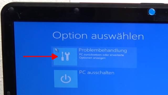 Windows 10 lässt sich nicht installieren auf HDD oder SSD - einfache Lösung - Problembehandlung auswählen