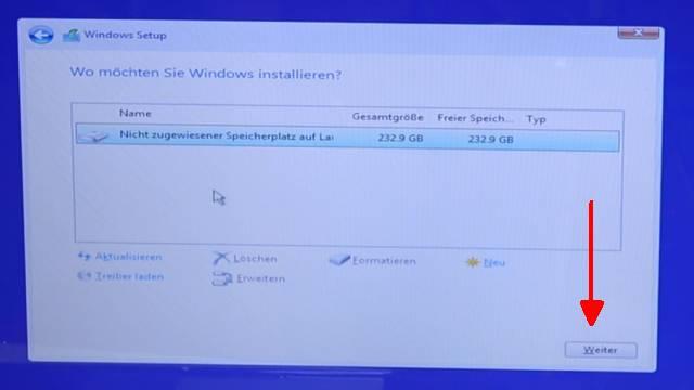 Windows 10 lässt sich nicht installieren auf HDD oder SSD - einfache Lösung - Datenträger wird wieder akzeptiert