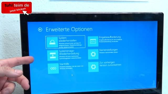 Windows 10 neu installieren ohne Datenverlust - alte Daten behalten - Emails Dokumente - Booten vom USB-Stick