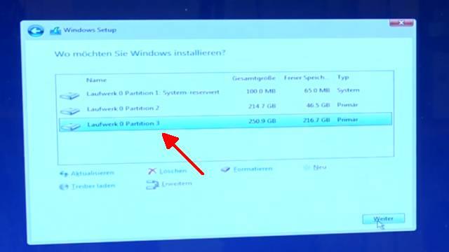 Windows 10 neu installieren ohne Datenverlust - alte Daten behalten - Emails Dokumente - alte C-Partition wählen