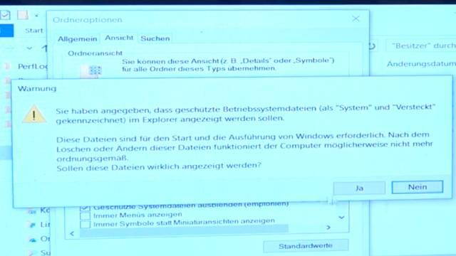 Windows 10 neu installieren ohne Datenverlust - alte Daten behalten - Emails Dokumente - versteckte Ordner anzeigen lassen