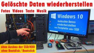 Windows 10 gelöschte Daten wiederherstellen - Fotos Videos Texte Musik - PhotoRec
