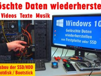 Windows 10 gelöschte Daten wiederherstellen - Fotos Videos Texte Musik - PhotoRec