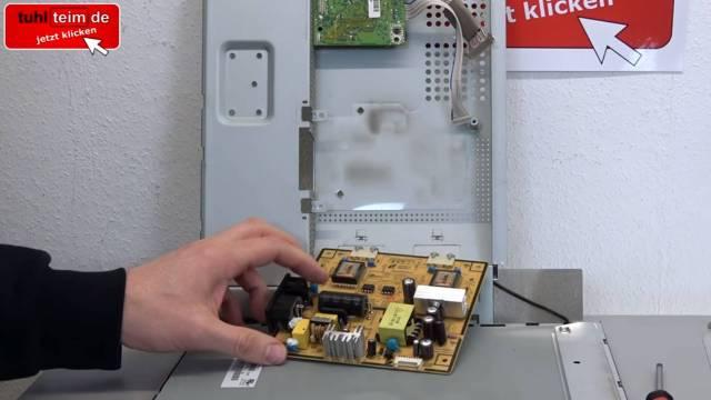 Computer PC-Monitor bleibt schwarz - kein Bild - OSD dunkel - Kondensatoren tauschen - Platine ausbauen