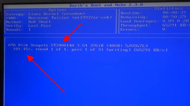 Festplatte auf Ebay mit 14.365 privaten Fotos gekauft - Wie löscht man eine Festplatte richtig - DABN - Darik's Boot and Nuke - Festplatte komplett löschen