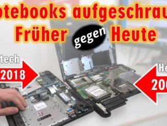 Notebooks aufgeschraubt - Früher gegen Heute - Heizung gegen HighTech