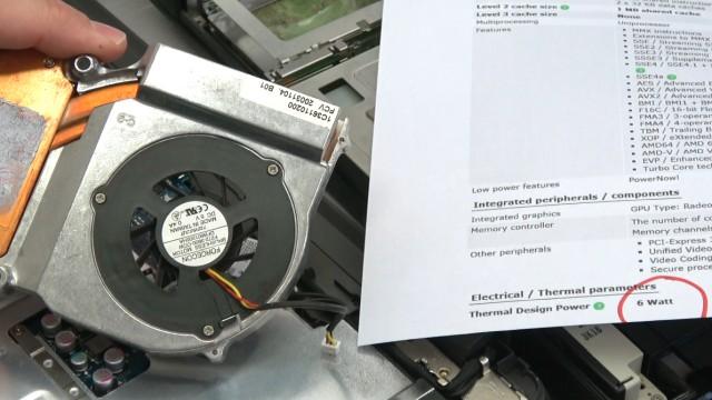 Notebooks aufgeschraubt - Früher gegen Heute - Heizung gegen HighTech - 62 Watt Verlustleistung gegen 6 Watt