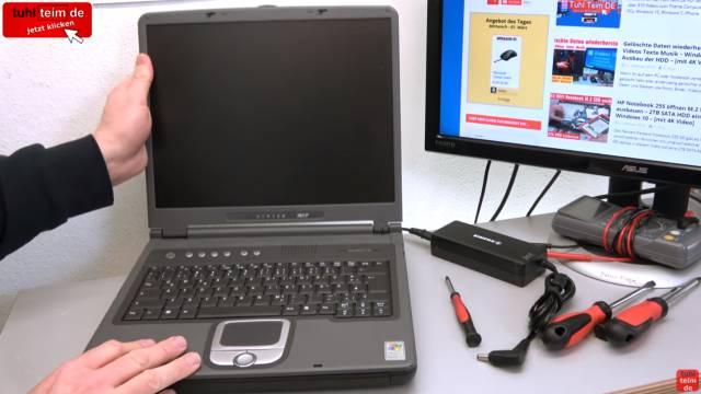 Was man mit seinem Notebook Akku niemals machen sollte | Laptop-Batterie - gebrauchtes Notebook - äußerlich in Ordnung