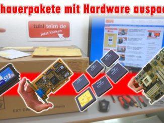 Zuschauerpakete mit Hardware auspacken - 2x DOM - Mainboards - 6x CPU - HDDs - Grafikkarten