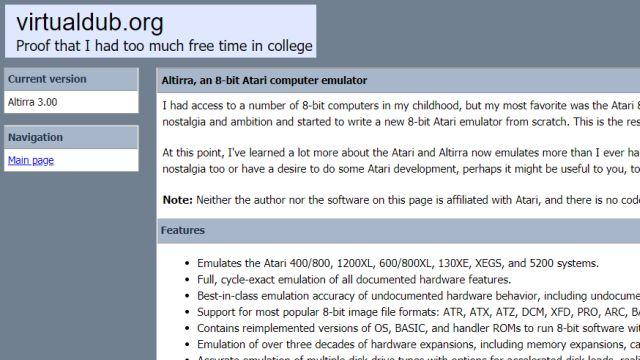 ATARI XL Emulator Altirra - kostenloser Download für Windows 10 - zurück in die 1980er - Download-Seite