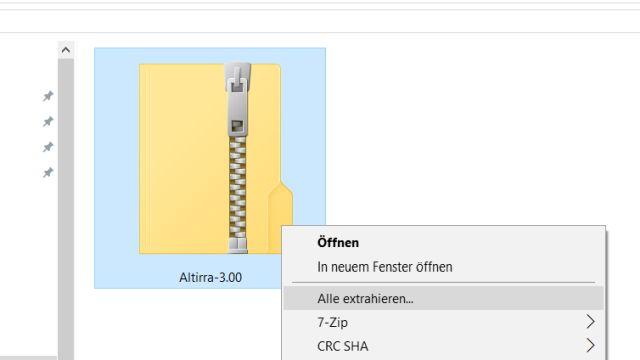 ATARI XL Emulator Altirra - kostenloser Download für Windows 10 - zurück in die 1980er - ZIP-Datei extrahieren