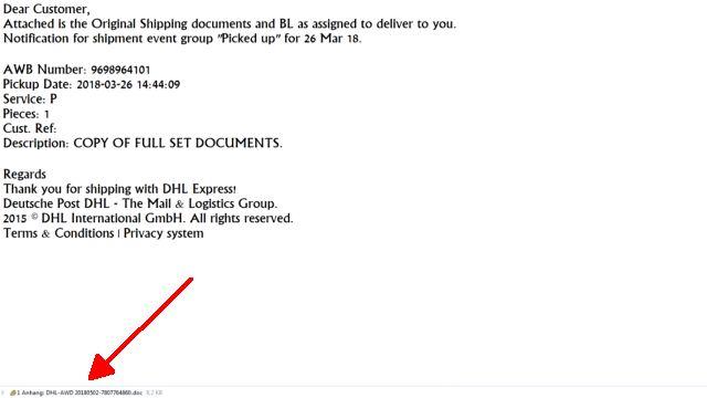 Meine erhaltenen Spam Emails der letzten Wochen - 17 nervige Mails - Email mit infiziertem DOC-Dokument